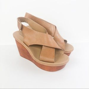 Lucky Brand | Odalia Leather Platform Wedges